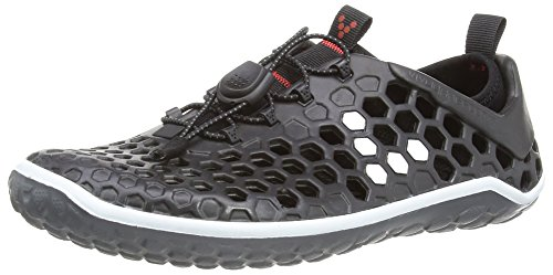 Vivobarefoot Women's 200009 Running Shoe,Black/White,37 EU/6.5 M US