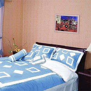 Geometry 11pc Comforter Set, Queen, Blue