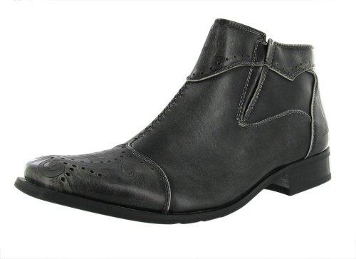 Robert Wayne Response Rodeo Men's Zipper Dress Boots (12, Grey)