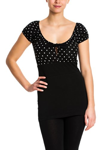 Pussy Deluxe Dolly Dotties Shirt Maglia donna nero S