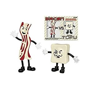 Accoutrements Mr.Bacon Vs. Monsieur Tofu Action Figures