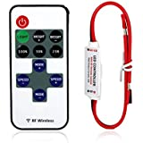 niceeshop(TM) DC 5~24V 12A Mini LED Controller Dimmer with RF Wireless Remote Control For Single Color Strip Light