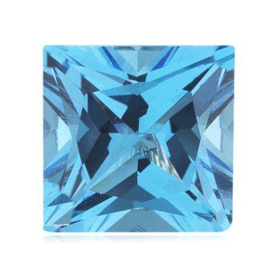 0.40-0.54 Cts of 4 mm AAA Princess Swiss Blue