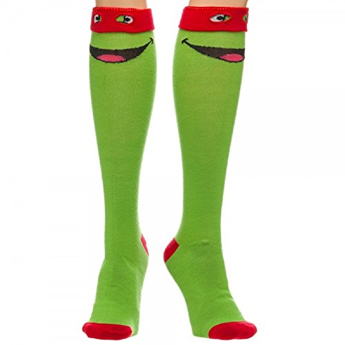 Teenage Mutant Ninja Turtles Raphael Knee High Socks with Mask