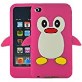 Hot Pink Penguin Style Case Back Cover For Apple iPod Touch 4TH Gen Generation 4 4G BRAND - Tinkerbell Trinkets®