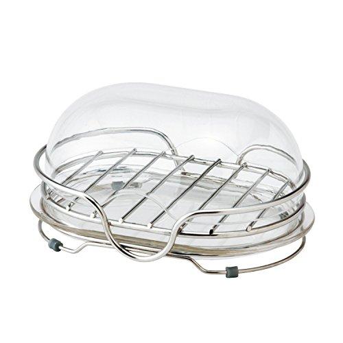 レック ステンレス 石けん皿 フタ付き 置き型 ( ソープディッシュ )