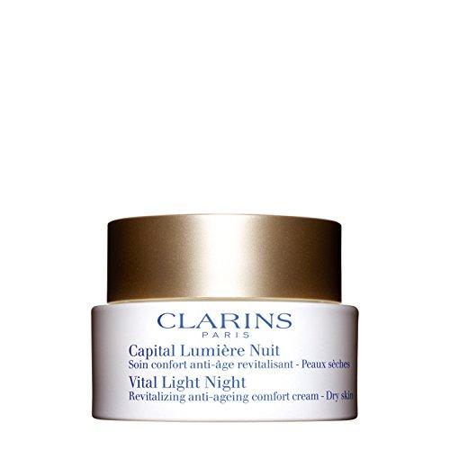 Clarins Capital Lumiere Nuit Peaux Seches trattamento esclusivo antirughe antieta che restituisce alla pelle vitalita e splendore durante la notte per pelli secche 50 ml