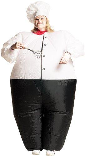 "Aufblasbares Kostüm ""Chefkoch"