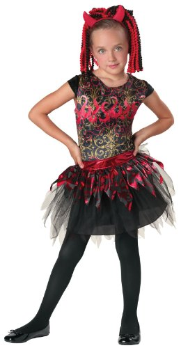 Seasons - Spunky Spitfire Child Costume - Medium (8-10) - Black/Red