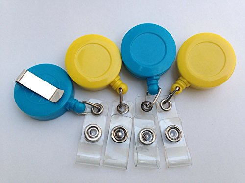 10pcs-retractable-recoil-key-chain-key-ring-reel-belt-clip-badge-pass-id-holder