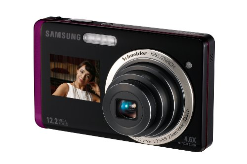 Samsung ST550 Digital Camera - Black/Purple ( 12MP, 5x Optical Zoom) 3.5 inch LCD