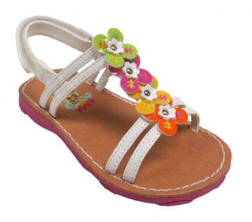 Toddler Girl White Sandals front-1054935