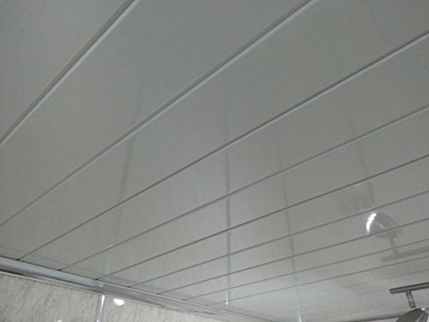 5 twin white pvc bathroom cladding shower wall ceiling. Black Bedroom Furniture Sets. Home Design Ideas