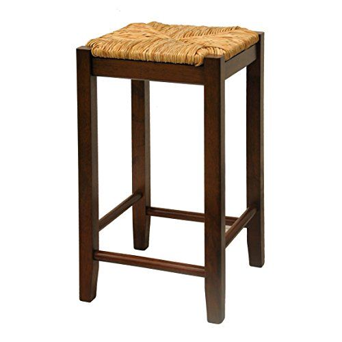 Incredible Review Winsome Wood 24 Inch Antique Walnut Square Rush Seat Dailytribune Chair Design For Home Dailytribuneorg