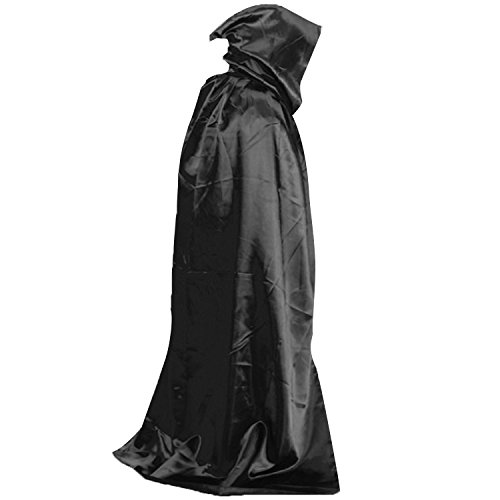 Devil Wicca Robe Vampire Dracula Hoody Cloak Long Tippet Cape for Halloween Costume Theater Role Play (Devil Robe Child Costume)