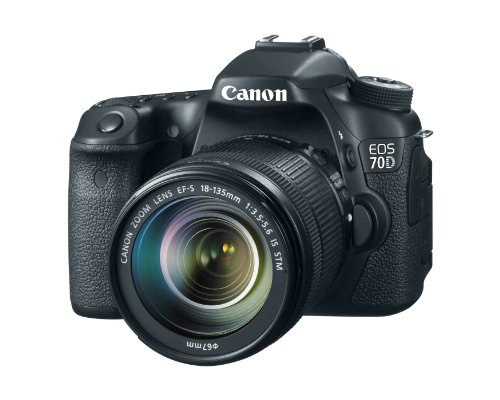 Canon EOS 70D 20.2 MP Digital SLR Camera with Dual Pixel CMOS AF and EF-S 18-135mm F3.5-5.6 IS STM Kit: CANON