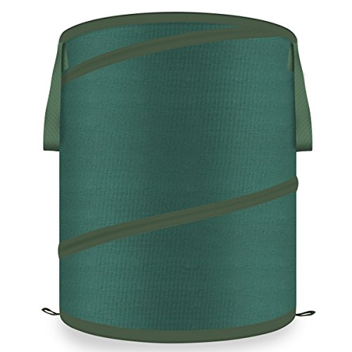 Energup 42 Gallon Pop Up Garden Bag - Reusable and Collapsible Bags for Yard and Lawn Pool Garden Leaf, Gardening Lawn, Heavy Duty - Durable Canvas Portable Yard Waste Bag with Drawstring Top