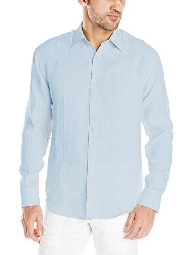 Cubavera Men 39 S Linen Long Sleeve Front Tuck Woven Shirt