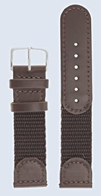 Click for Men's Swiss Army Style Watchband - Color Brown Size: 19mm Watch Band - by JP Leatherworks