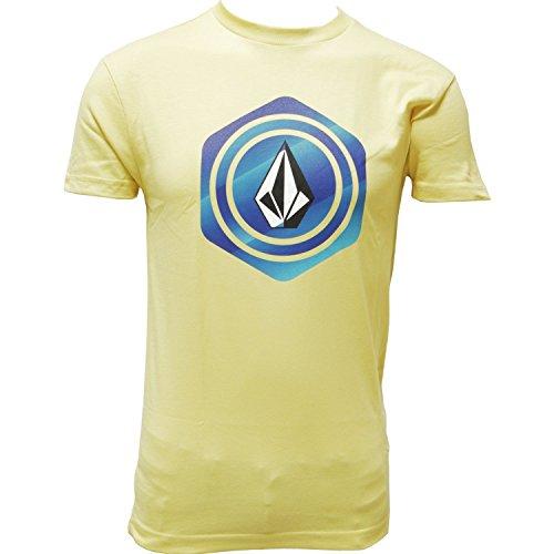 volcom-hexstone-basic-t-shirt-kurze-armel-herren-l-jaune-noir-straw