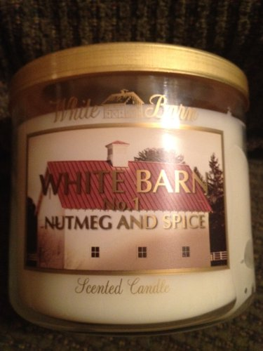 Bath and Body Works White Barn Slatkin 3 Wick Scented Candle No.1 NUTMEG AND SPICE 14.5 Oz