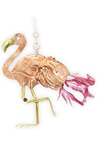 Pilgrim Imports Flamingo Metal Fair Trade Ornament