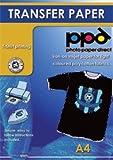 -  A4 Inkjet Iron On Transfers Paper / T Shirt Transfers - Dark T Shirt x 10 Sheets