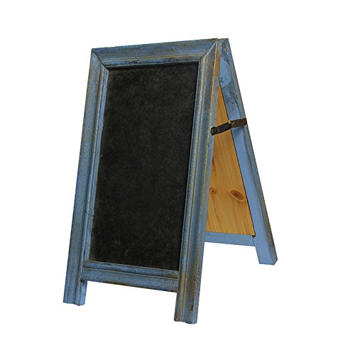 SUPERIORFE Vintage Free Standing Rustic Style Two-Sided Wood Frame Chalkboard 8.26