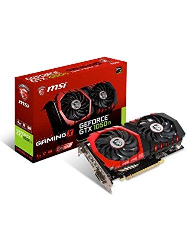 MSI NVIDIA GeForce GTX 1050 Ti GAMING X 4G 4 GB GDDR5 128 Bit Memory HDMI/DP/DVI PCI Express 3 Graphics Card - Black