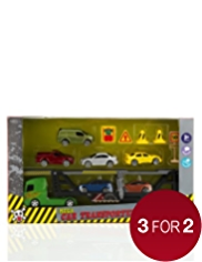 16 Mega Car Transporter Toy Set
