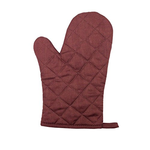 Paico Home Heatproof Microwave Oven Barbecue Gloves Mitts Lattice Grid Brown Size:28Cm Length By 18Cm Width - 1 Pack