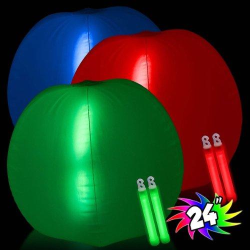 Inflatable Glow Beachball - Blue - 1