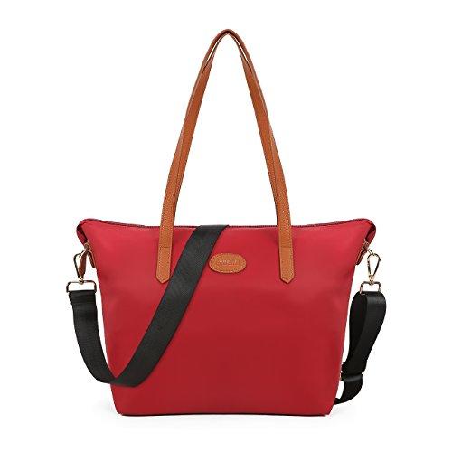 ECOSUSI Shopper Ufficio Tote Bag Borse a Spalla Donna Bordeaux