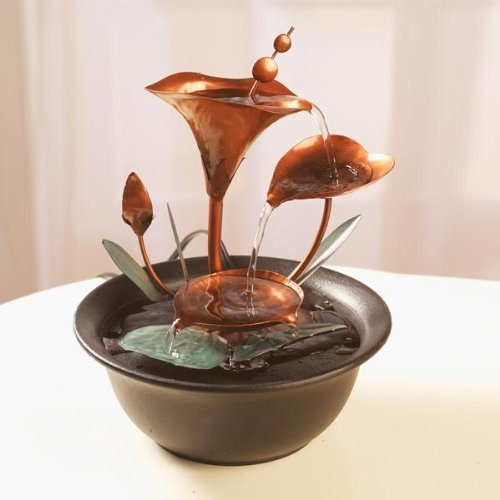 Water Lilies Tabletop Fountain