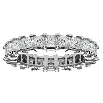 4.00 CT TW Princess Cut Diamond Eternity Wedding
