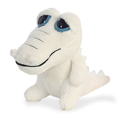 Aurora World Dreamy Eyes White Gator with Whistle Sound Plush