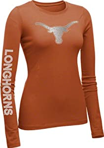 Texas Longhorns Ladies Dark Orange Taylor Long Sleeve T-Shirt - XL by Campus Couture