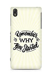 AMEZ remember why you started Back Cover For Sony Xperia Z2