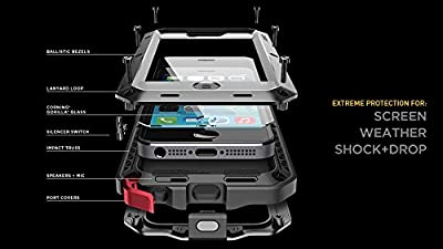 SCENG Aluminum Shockproof Dustproof Waterproof High - quality Tempered Glass Metal Case Cover for iPhone 5 / 5S by SCENG