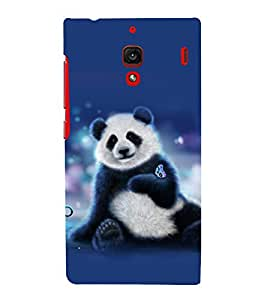 printtech Panda Butterfly Back Case Cover for Xiaomi Redmi 1S::Xiaomi Redmi (1st Gen)