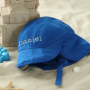 Personalized Blue Sun Hat for Baby Boys