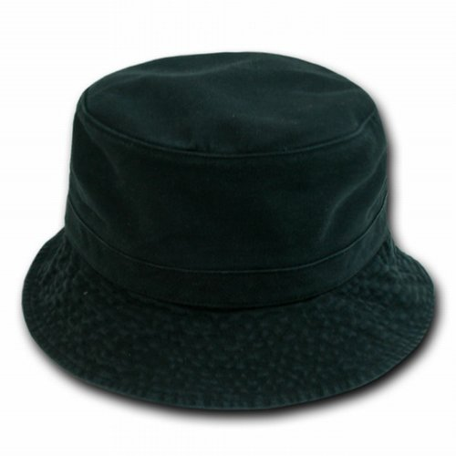 Black Fishing Fisherman's Polo Bucket Hat Cap Hats Caps Size Large/x-large