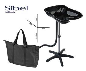 sibel bac de lavage portable noir hygi ne et soins du corps. Black Bedroom Furniture Sets. Home Design Ideas