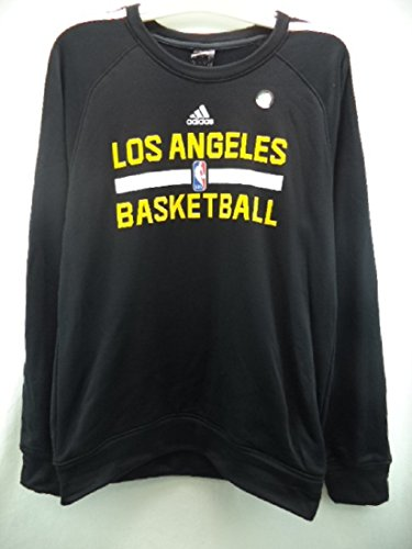 Los Angeles Lakers Adidas NBA Climawarm Black Sweatshirt XL цены онлайн