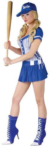 [Homerun Honey Baseball Player Sexy Adult Costume Size 10-14 Medium/Large] (Baseball Player Costumes Women)