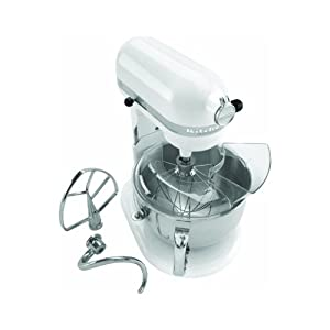 KitchenAid KP26M1XWH Professional 600 Series 6-Quart Stand Mixer, White