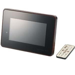 ELECOM デジタルフォトフレーム TREERT(トリート) 7インチワイド 解像度800×480 ブラック DPF-X7WT10DW