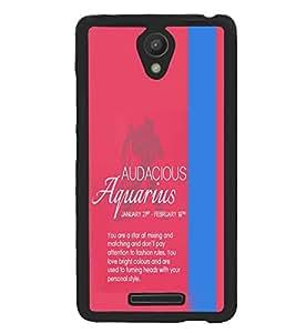 Xiaomi Redmi Note 2 Pro, Fuson Premium Audacious Aquarius Designer Metal Printed with Hard Plastic Back Case Cover