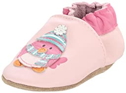 Robeez Soft Soles Cozy Bird Crib Shoe (Infant/Toddler),Pink Leather,6-12 Months (2.5-4 M US Infant)