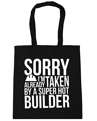 hippowarehouse-sorry-im-already-taken-by-a-super-hot-builder-tote-shopping-gym-beach-bag-42cm-x38cm-